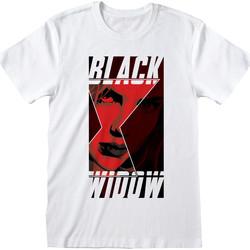 textil T-shirts & poloer Black Widow  White