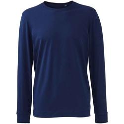textil Herre Langærmede T-shirts Anthem AM11 Navy