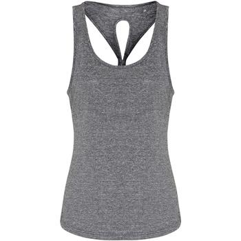 textil Dame Toppe / T-shirts uden ærmer Tridri TR042 Black Melange