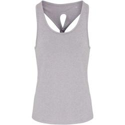 textil Dame Toppe / T-shirts uden ærmer Tridri TR042 Silver Melange
