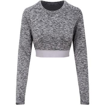 textil Dame Langærmede T-shirts Awdis JC039 Grey Melange