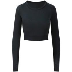 textil Dame Langærmede T-shirts Awdis JC039 Jet Black