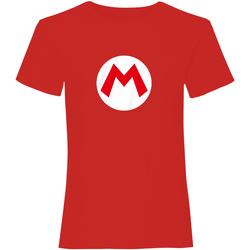 textil T-shirts m. korte ærmer Super Mario  Red/White