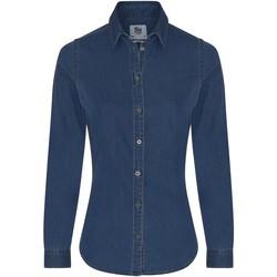 textil Dame Skjorter / Skjortebluser Awdis SD045 Dark Blue