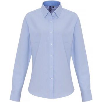 textil Dame Skjorter / Skjortebluser Premier PR338 White/Light Blue
