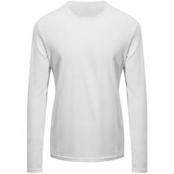 textil Langærmede T-shirts Awdis EA021 Arctic White