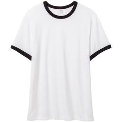 textil Herre T-shirts m. korte ærmer Alternative Apparel AT013 White/Black