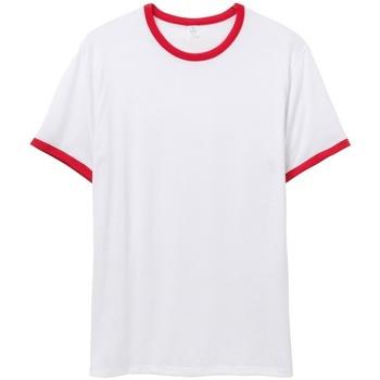 textil Herre T-shirts m. korte ærmer Alternative Apparel AT013 White/Red