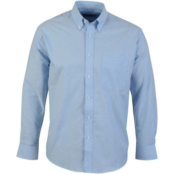 textil Herre Skjorter m. lange ærmer Absolute Apparel  Light Blue