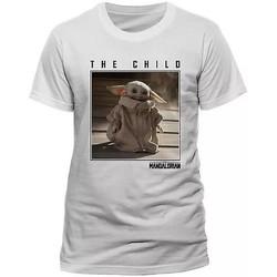 textil T-shirts m. korte ærmer Star Wars: The Mandalorian  White