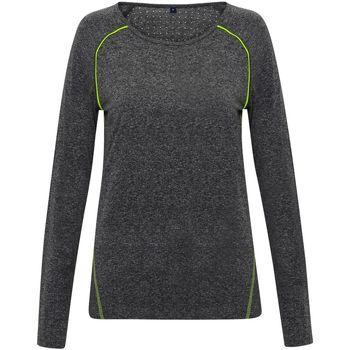 textil Dame Langærmede T-shirts Tridri TR040 Black Melange