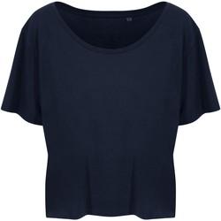 textil Dame T-shirts m. korte ærmer Ecologie EA02F Navy