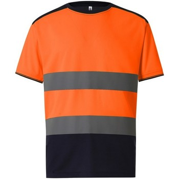 textil Herre T-shirts m. korte ærmer Yoko  Orange/Navy
