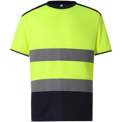 textil Herre T-shirts m. korte ærmer Yoko  Yellow/Navy