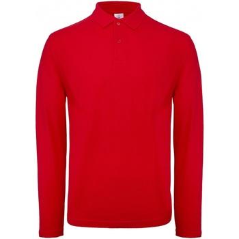textil Herre Polo-t-shirts m. lange ærmer B And C PUI12 Crimson