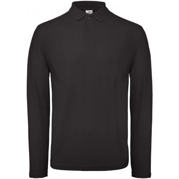textil Herre Polo-t-shirts m. lange ærmer B And C PUI12 Jet Black