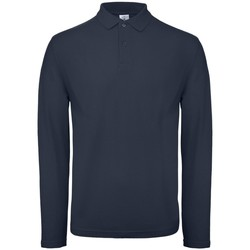 textil Herre Polo-t-shirts m. lange ærmer B And C PUI12 Ultramarine
