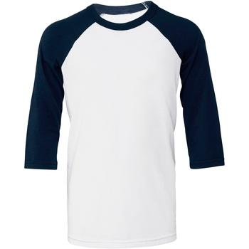 textil Dame T-shirts m. korte ærmer Bella + Canvas BE218 White/ Navy
