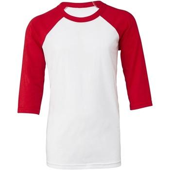 textil Dame T-shirts m. korte ærmer Bella + Canvas BE218 White/Red