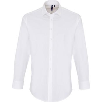 textil Herre Skjorter m. lange ærmer Premier PR244 White