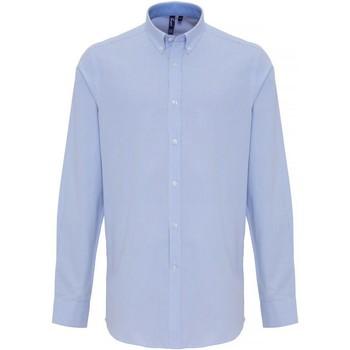 textil Herre Skjorter m. lange ærmer Premier PR238 White/Light Blue