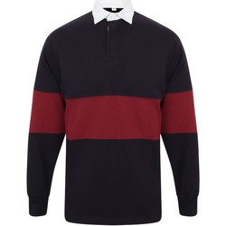 textil Polo-t-shirts m. lange ærmer Front Row FR07M Navy/Burgundy
