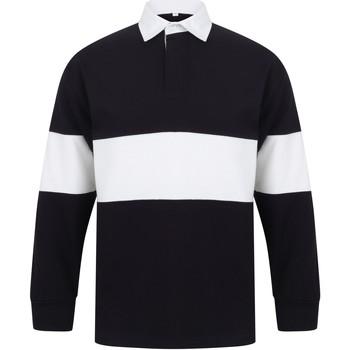 textil Polo-t-shirts m. lange ærmer Front Row FR07M Navy/White