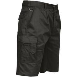 textil Herre Shorts Portwest  Black