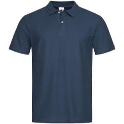 textil Herre Polo-t-shirts m. korte ærmer Stedman  Navy