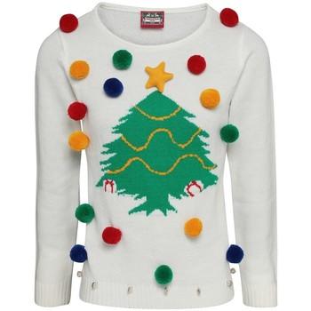 textil Dame Sweatshirts Christmas Shop CJ102 White