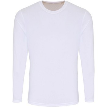 textil Herre Langærmede T-shirts Tridri TR050 White