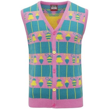 textil Veste / Cardigans Christmas Shop CJ009 Pink/Green