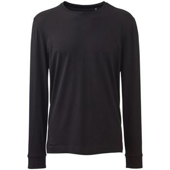 textil Herre Polo-t-shirts m. lange ærmer Anthem AM011 Black