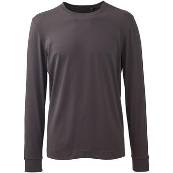 textil Herre Polo-t-shirts m. lange ærmer Anthem AM011 Charcoal Grey