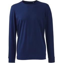 textil Herre Polo-t-shirts m. lange ærmer Anthem AM011 Navy