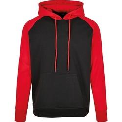 textil Herre Sweatshirts Build Your Brand BB005 Black/Red