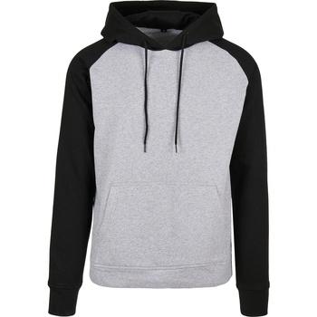 textil Herre Sweatshirts Build Your Brand BB005 Heather Grey/Black