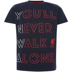 textil Børn T-shirts & poloer Liverpool Fc  Navy/Red