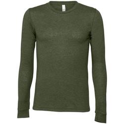 textil Langærmede T-shirts Bella + Canvas CA3501 Military Green