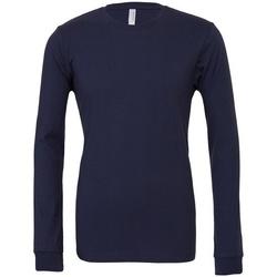 textil Langærmede T-shirts Bella + Canvas CA3501 Navy