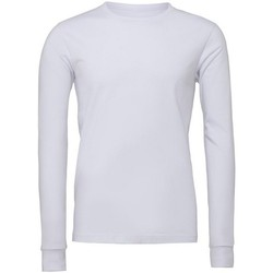 textil Langærmede T-shirts Bella + Canvas CA3501 White