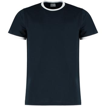 textil Herre T-shirts & poloer Kustom Kit KK508 Navy/White