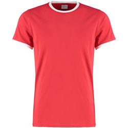 textil Herre T-shirts & poloer Kustom Kit KK508 Red/White