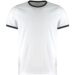 textil Herre T-shirts & poloer Kustom Kit KK508 White/Black