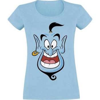 textil Dame T-shirts m. korte ærmer Aladdin  Blue