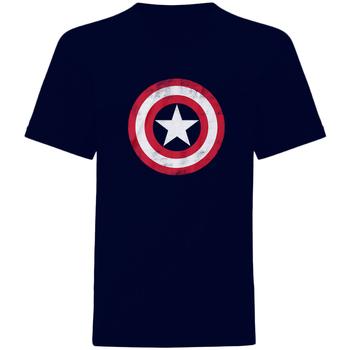 textil T-shirts m. korte ærmer Captain America  Navy/Red/White