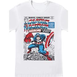 textil T-shirts m. korte ærmer Captain America  White