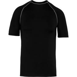 textil Børn T-shirts m. korte ærmer Proact PA4008 Black