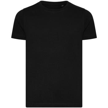 textil Børn T-shirts m. korte ærmer Ecologie EA001B Jet Black