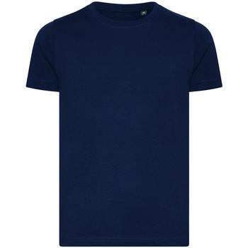 textil Børn T-shirts m. korte ærmer Ecologie EA001B Navy